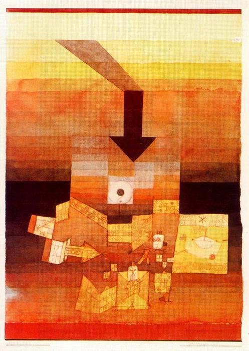 """Betroffen Ort"", Paul Klee, 1922"
