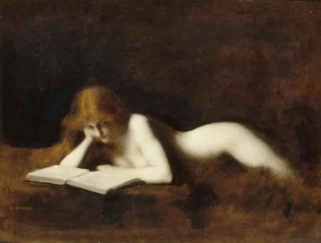 La lettrice, Jaen Jacques Henner , 1883.